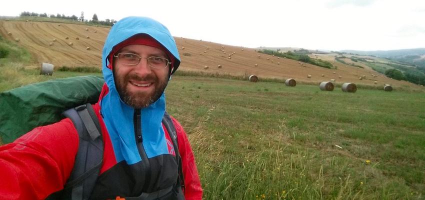 Aldo pioggia evidenza Cammino Francesco 2016