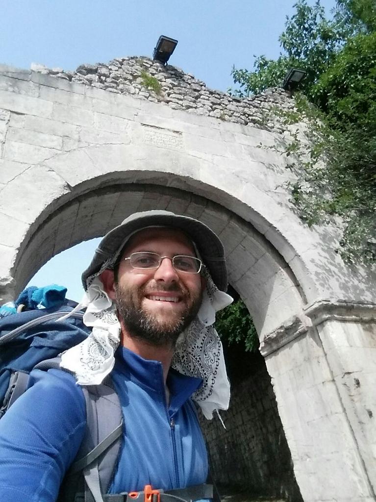 Aldo porta Cammino Francesco 2016