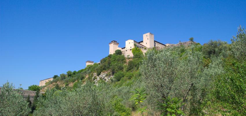 Rocca Spoleto Cammino Francesco 2016